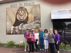 A few of our members enjoying a Gadabout to the Carlsbad murals on April 11th.