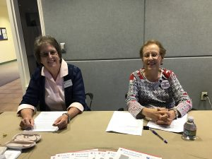 Martha Cox and Kathy Anderson from the League of Women Voters